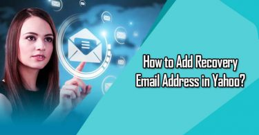 Add Recovery Email Address in Yahoo