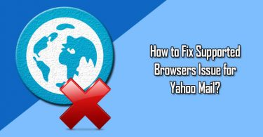 Supported Browsers Issue for Yahoo Mail