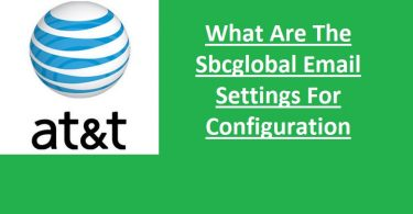 SBCGlobal email settings for configuration