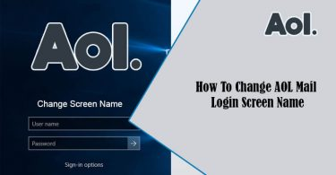 AOL Mail Login Screen Name