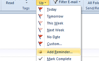 How To Add Reminder in Outlook