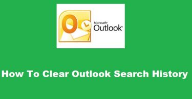 How To Clear Outlook Search History