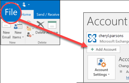 add another email account to outlook