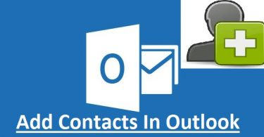 Add Contacts In Outlook
