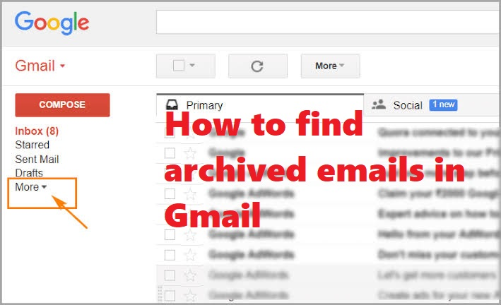 find archived email in Gmail