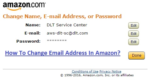 Change Email Address In Amazon