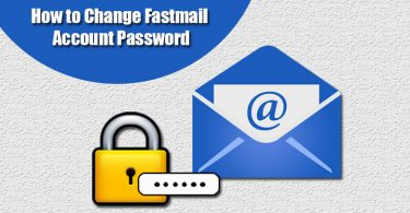 change Fastmail password