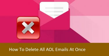 Delete all AOL Emails At Once