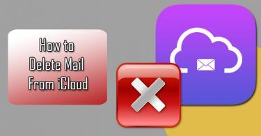delete mails from iCloud