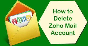 Delete Zoho Mail Account