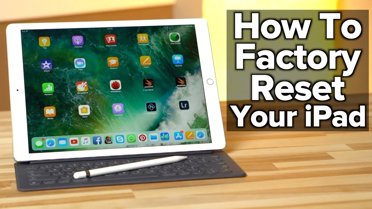 Factory Reset iPad
