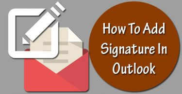 Add Signature to Outlook Account