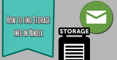 How to Find Storage Info in Yandex Mail