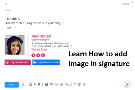 How do i add an image to my signature in yahoo mail