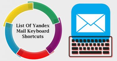 List of Yandex Mail Keyboard Shortcuts