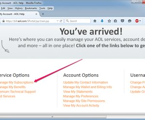 manage subscription in aol email