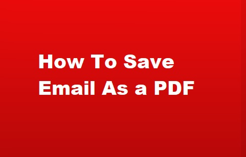 save email as a pdf