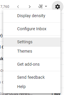 setting in gmail