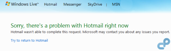 hotmail msn sign in error