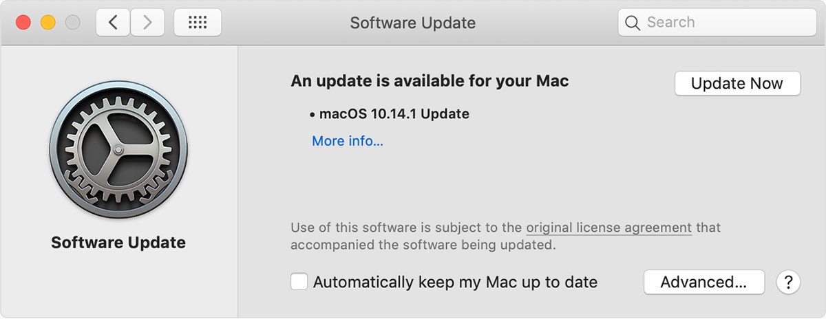 update MAC apple